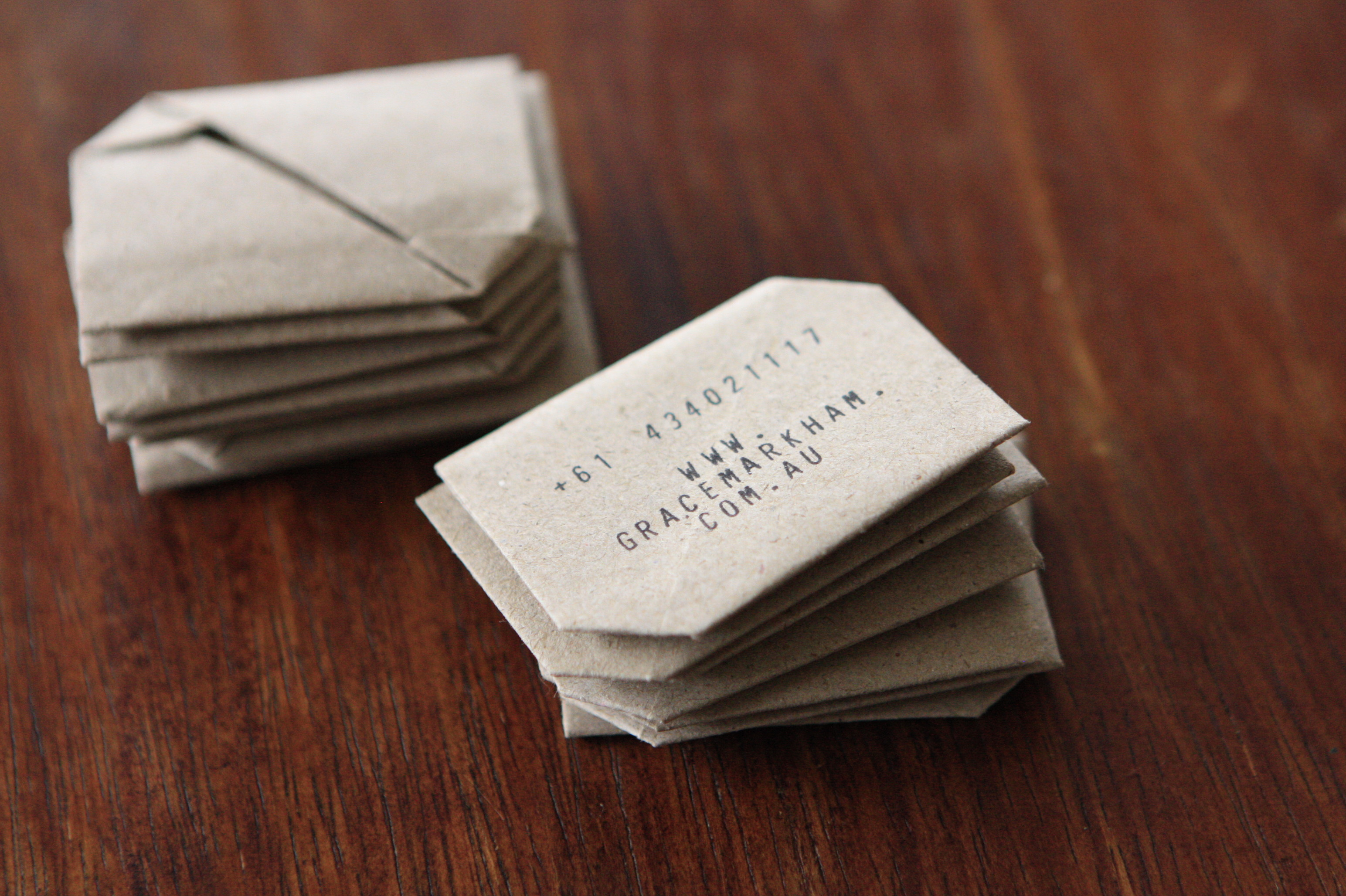Hand Made Business Cards in Minutes - Grace Markham Photography